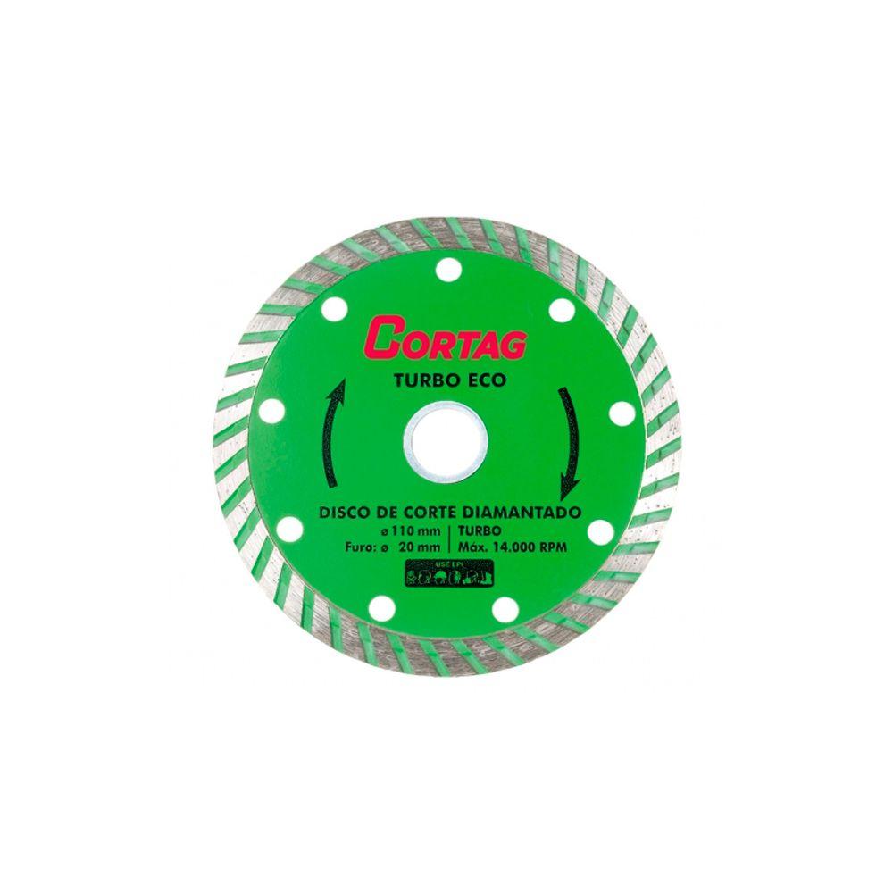 Disco Diamantado Turbo Eco 110X20MM Cortag