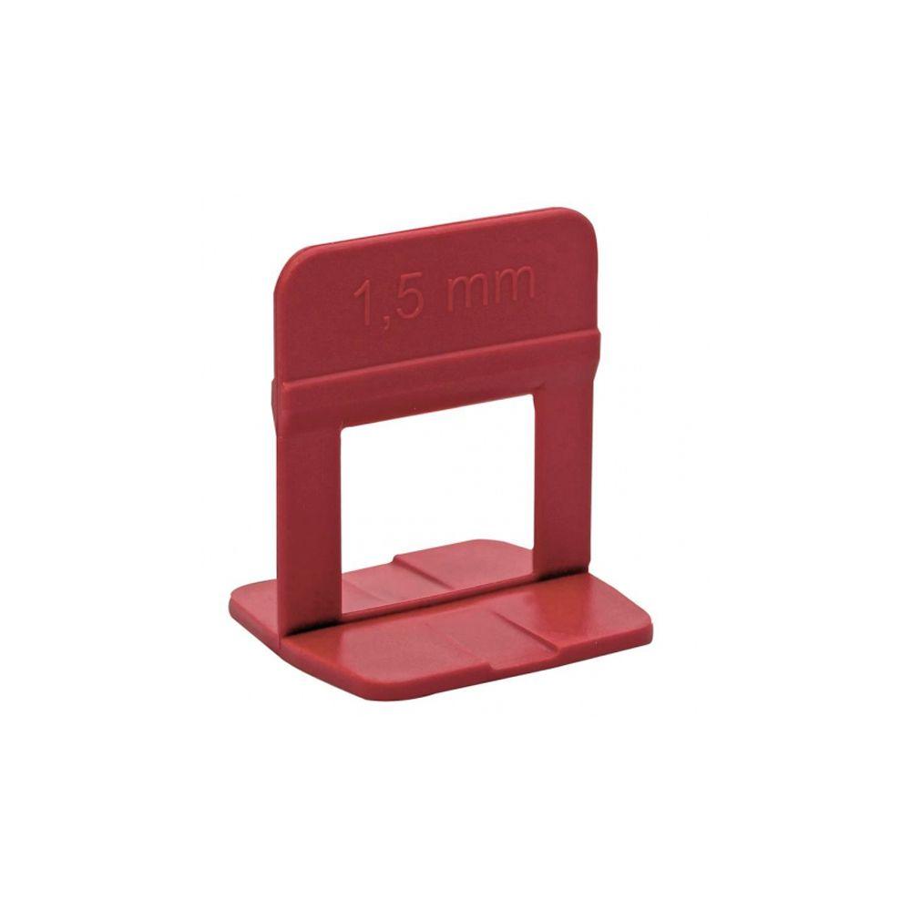 Espaçador Vermelho de 1,5 mm Nivelador ECO com 50 peças Cortag