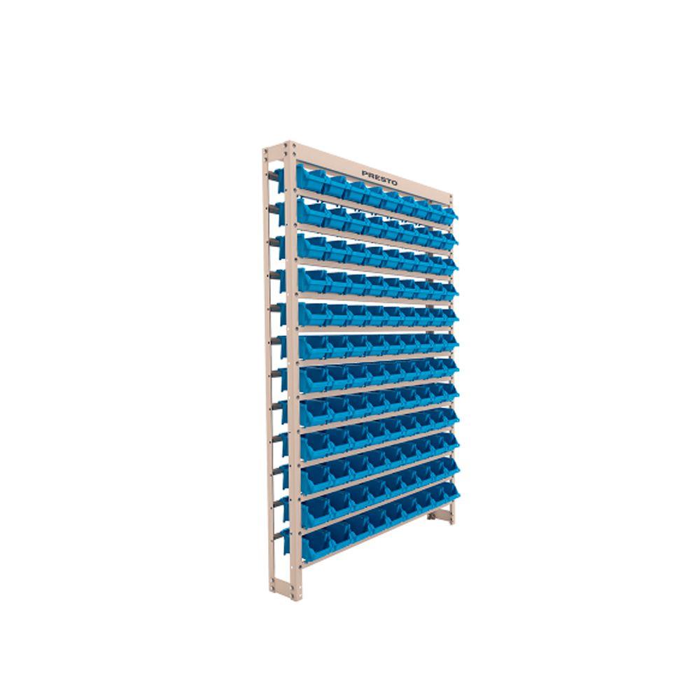 Estante Metálica Com Gaveta 108/3 Azul 43006 Presto