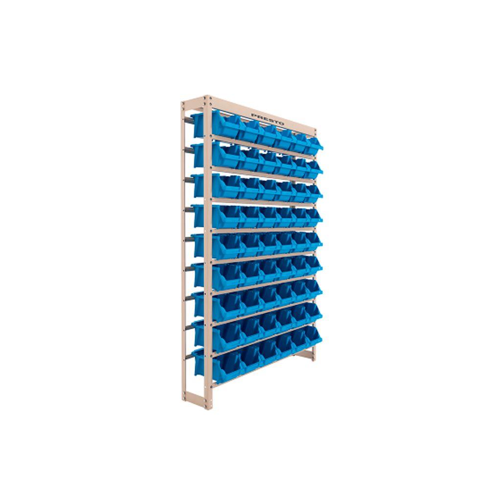 Estante Metálica Com Gaveta 54/5 Azul 43010 Presto