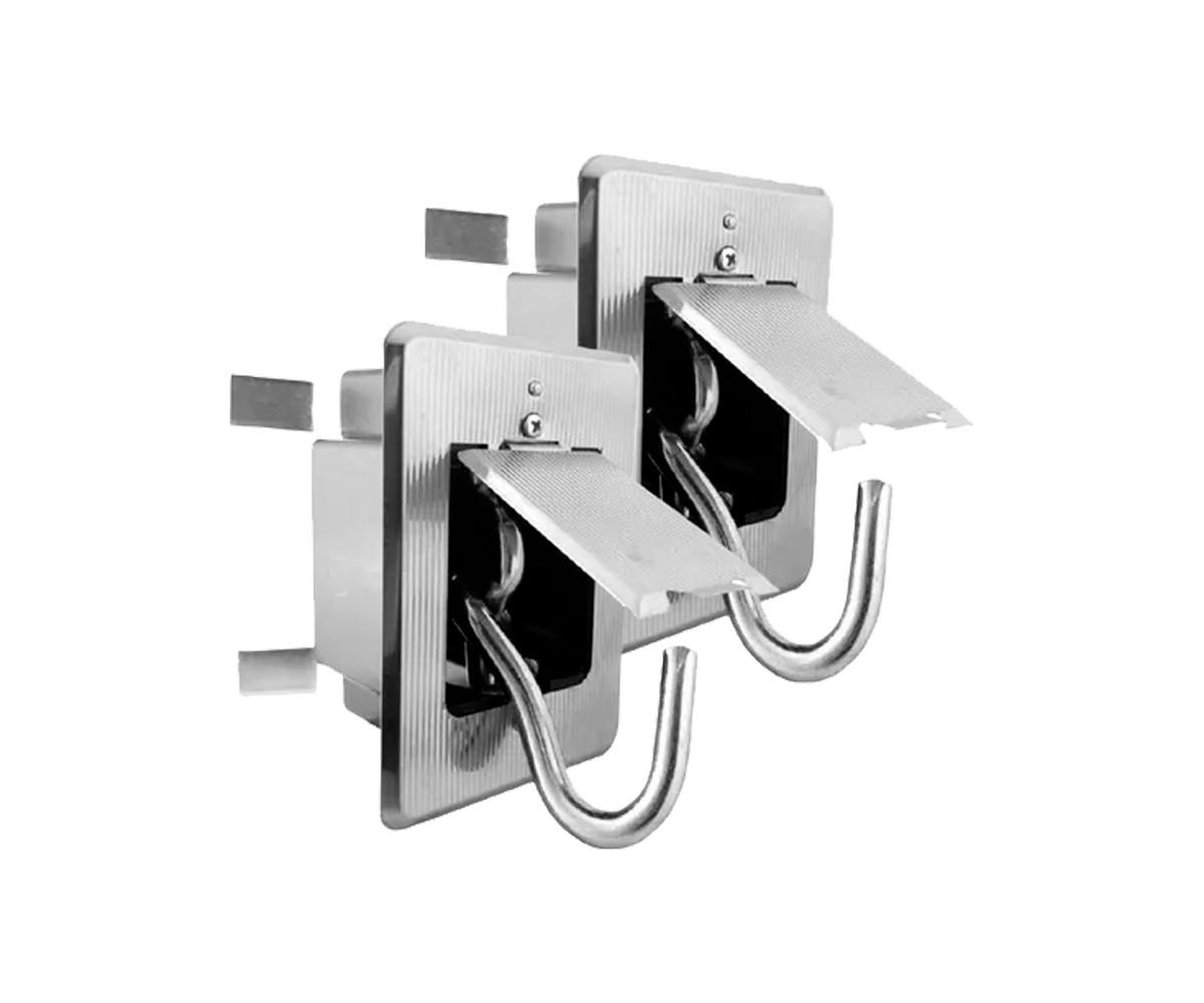 Gancho Rede Embutir 7323 IP Caixa com 2 Unidades Aliança