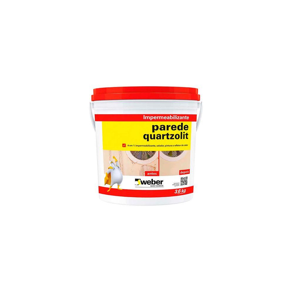 Impermeabilizante Parede 3,6kg Quartzolit