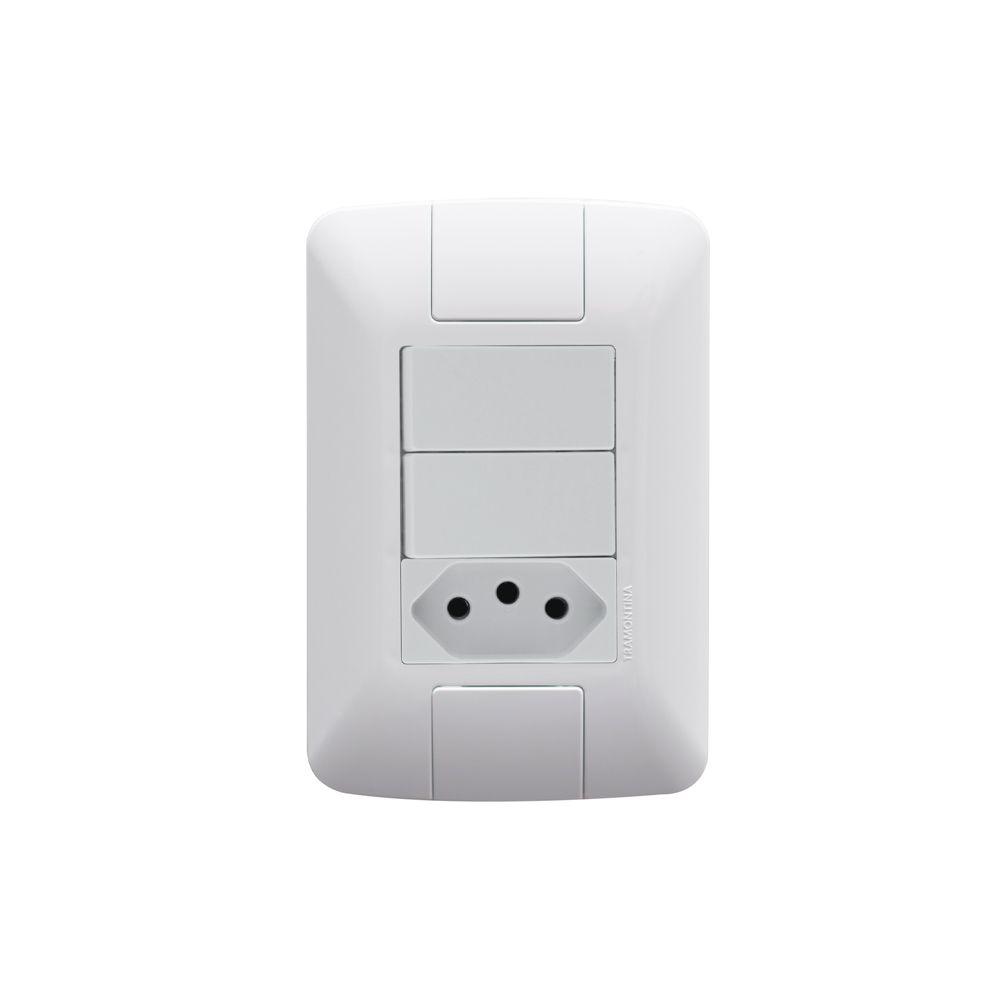 Interruptor Dupla + Tomada 2P+T 10A Aria Tramontina