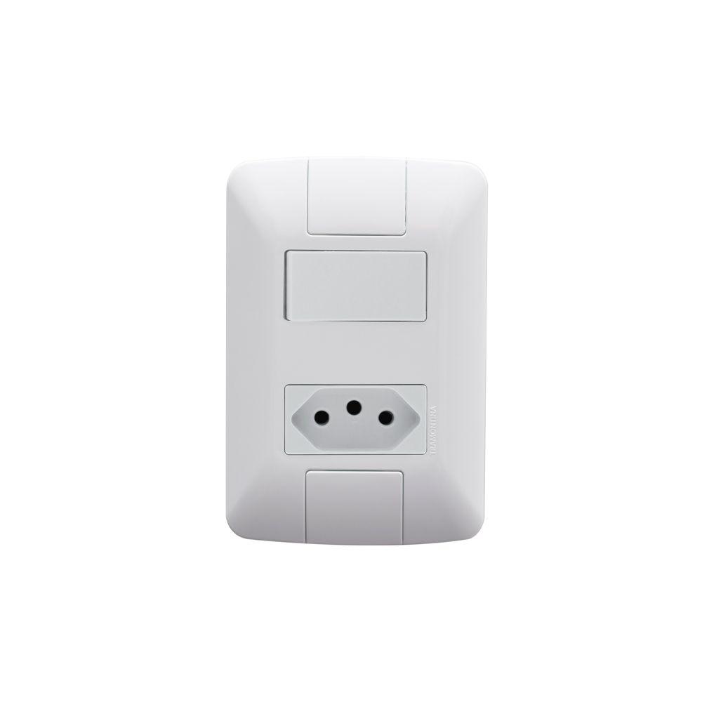 Interruptor Simples + Tomada 2P+T 20A Aria Tramontina