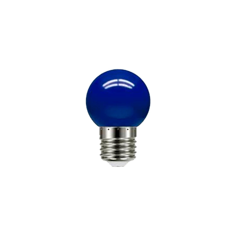 Lâmpada Led Bolinha Azul 1W 127V E-27 Taschibra