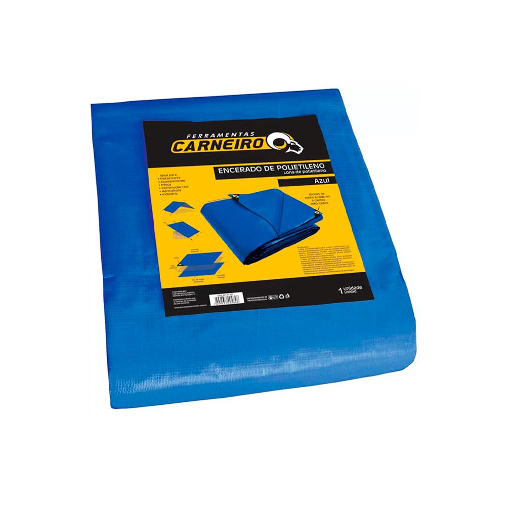 Lona Polietileno Azul 5X4MTS Carneiro