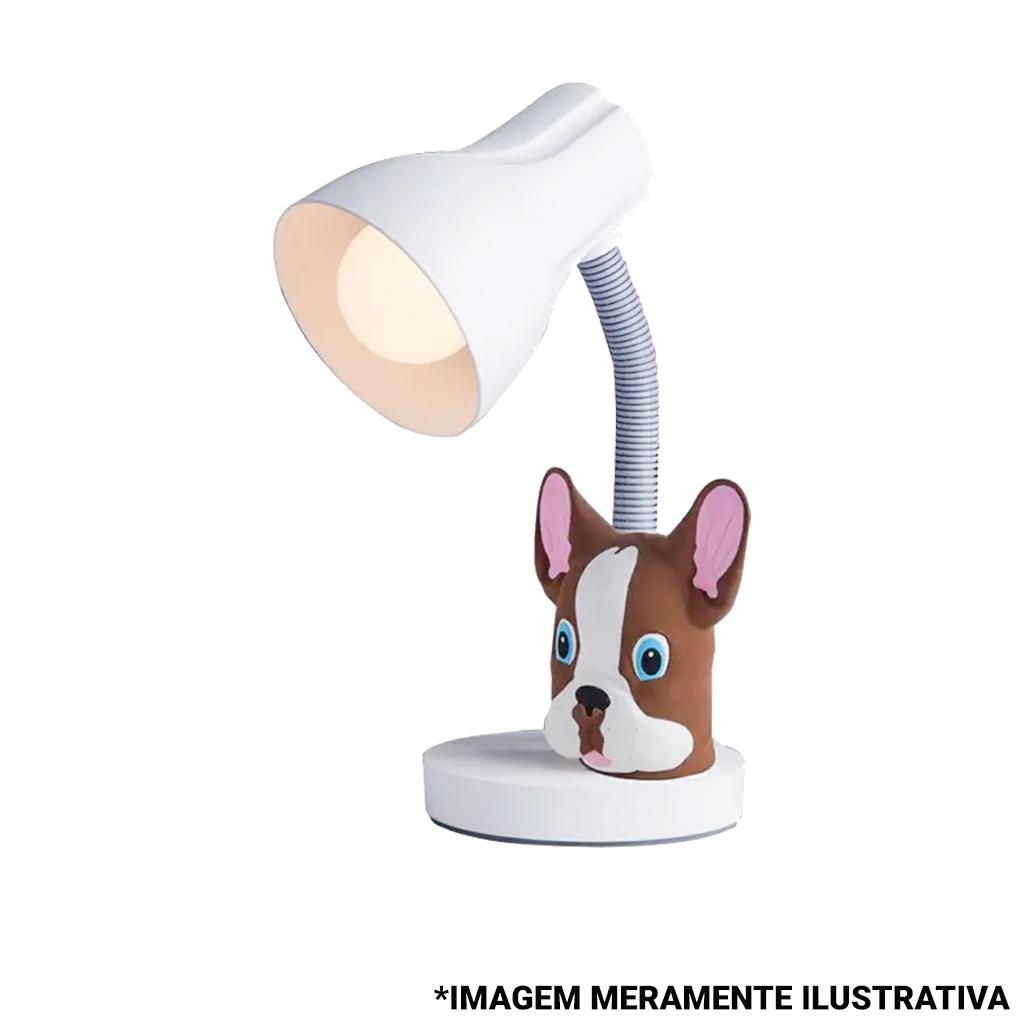 Luminária de Mesa Pets Buldog Marrom Startec