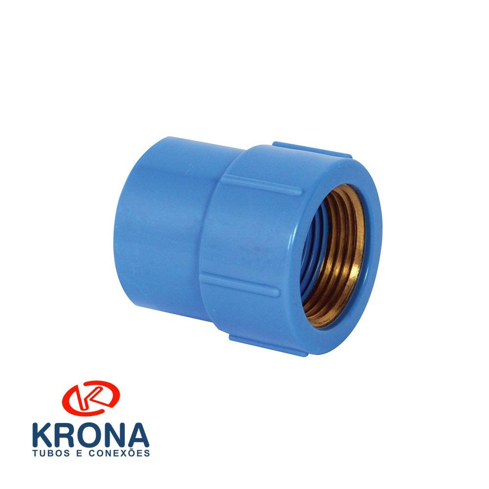 Luva Azul Latão 25X1/2 Krona