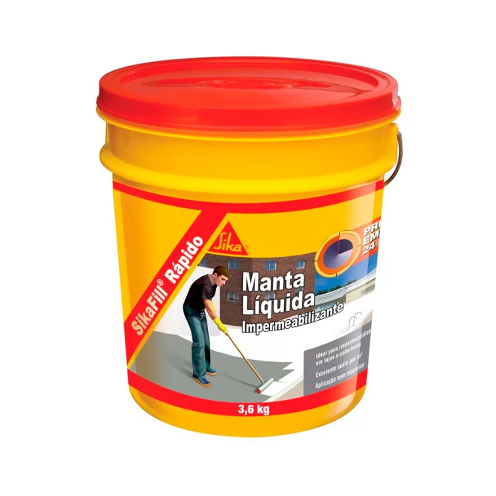 Manta Liquida Rápido Branco Sikafill 3,6KG Sika
