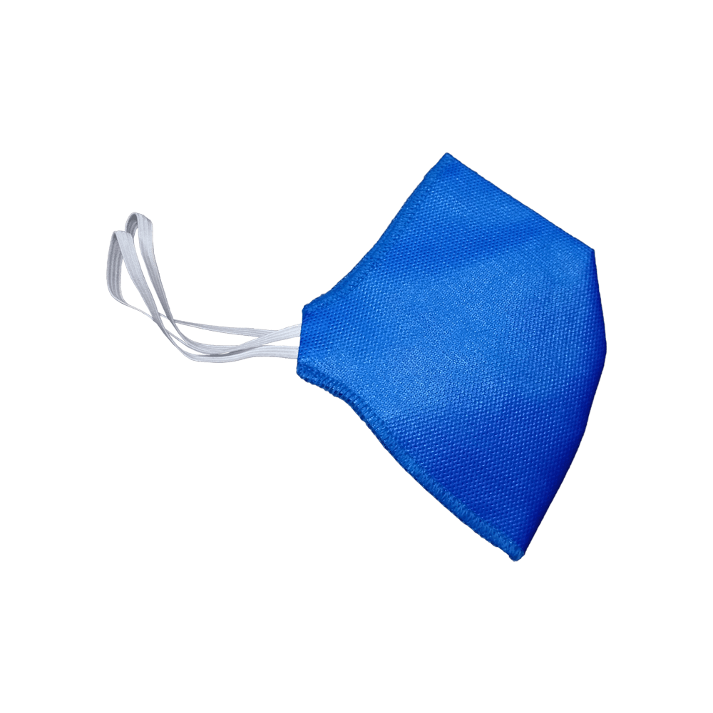 Máscara Descartável Sem Válvula Azul Elástico Fino RR-F