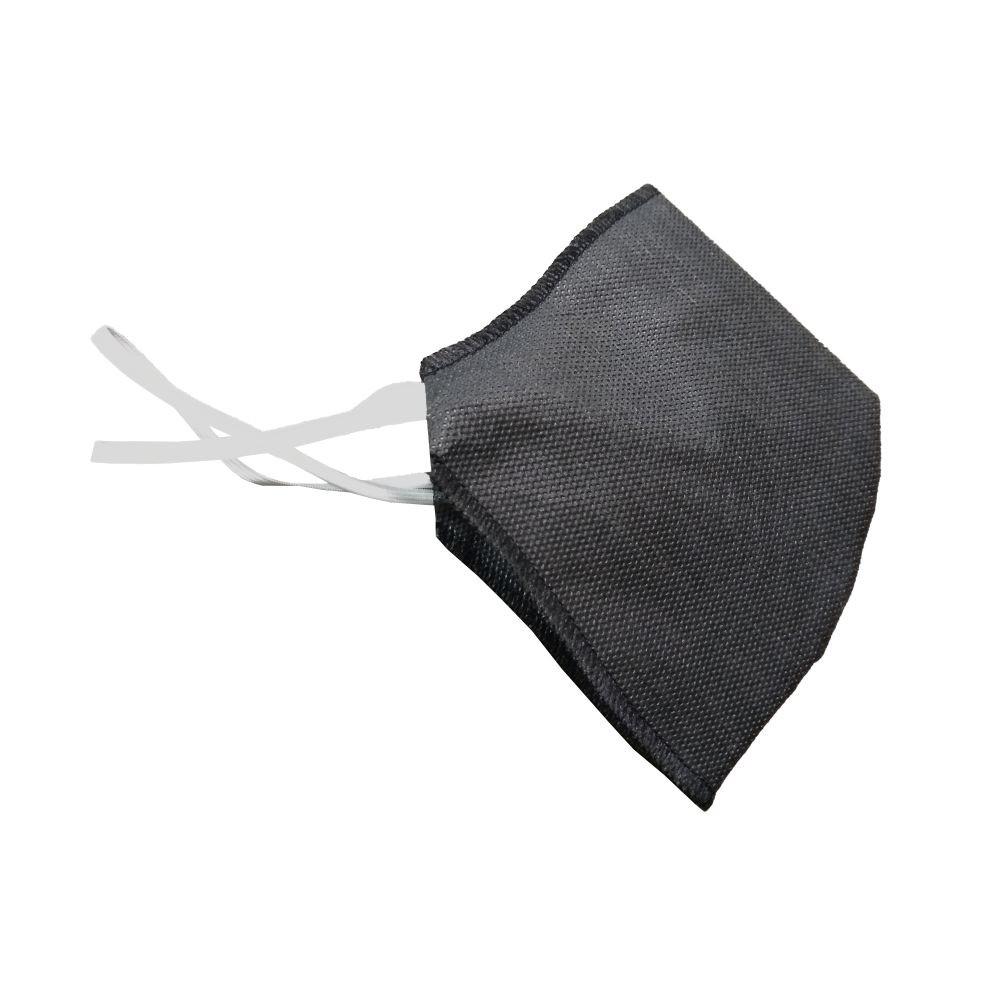 Máscara Descartável Sem Válvula Preta Elástico Fino RR-F