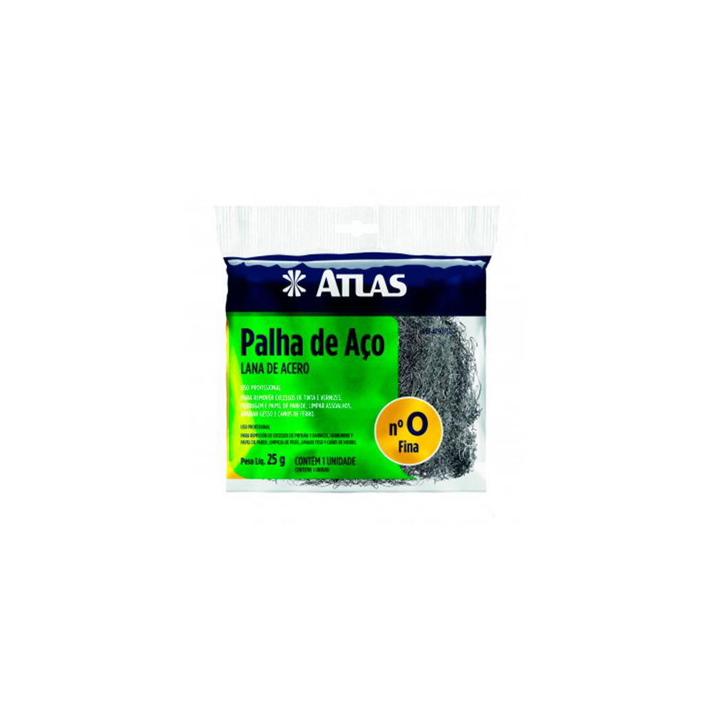 Palha De Aço Nº0 25g AT90/50 Atlas