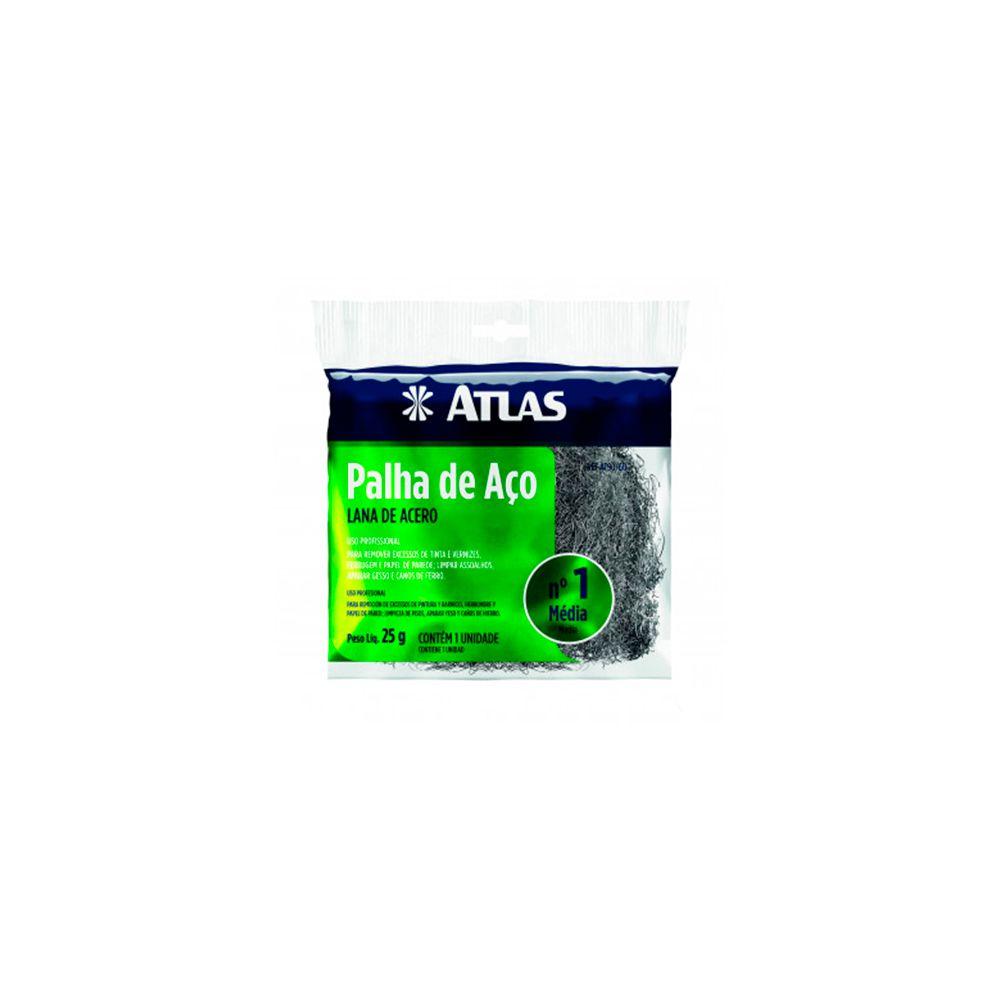 Palha De Aço Nº1 25g AT90/60 Atlas