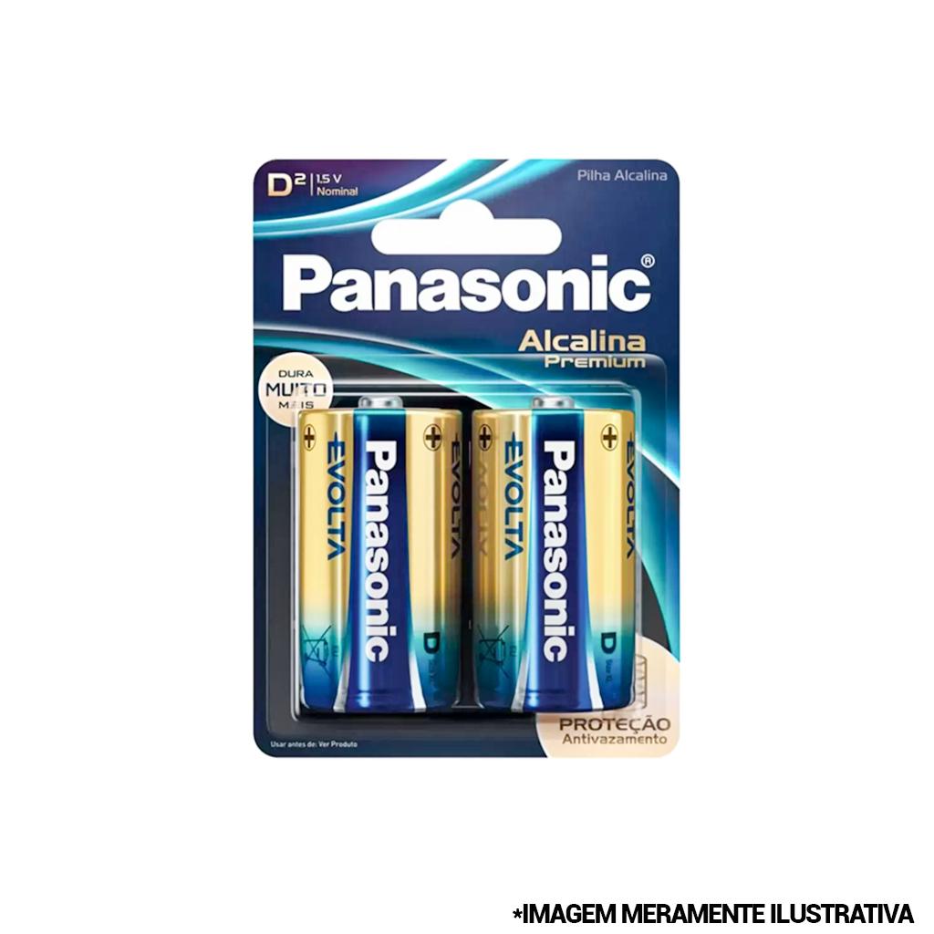 Pilha Alcalina Premium Grande D 2 peças 2 peças 1,5v Panasonic