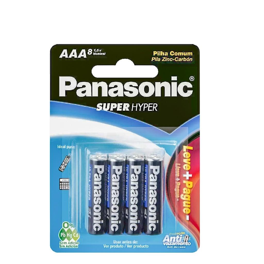 Pilha Ultra Hyper Pal AAA 8pcs 1,5V Panasonic