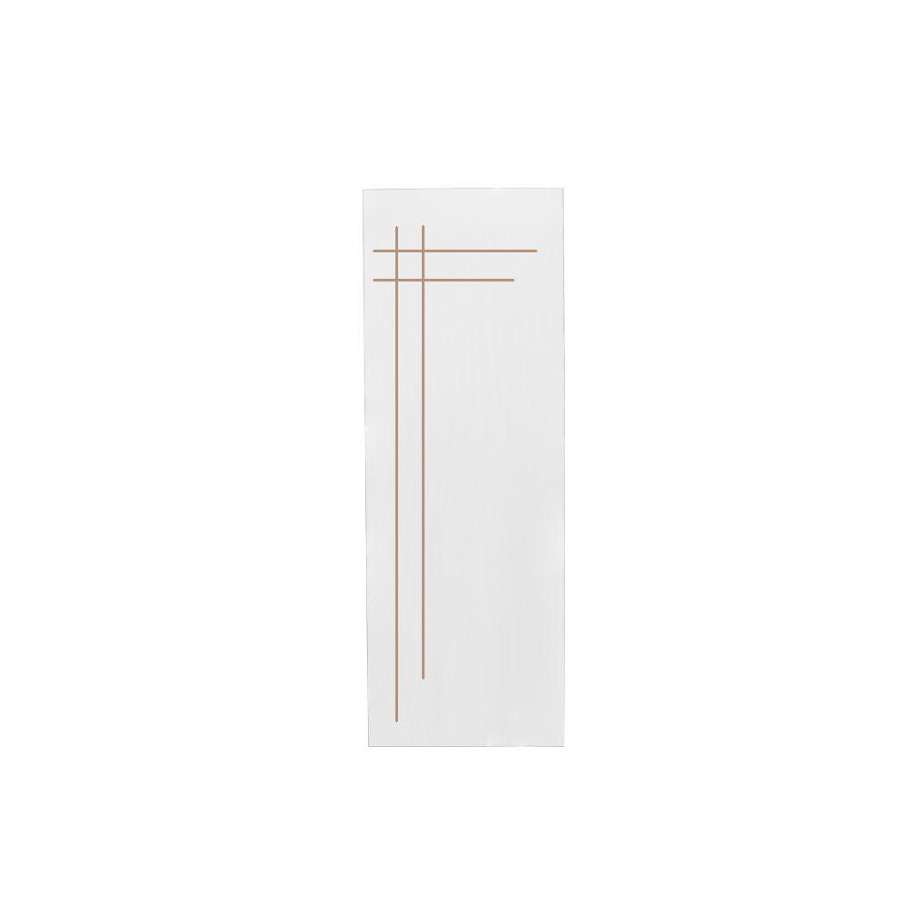 Porta Frisada 210X60 Cruzada Branca 04 CLM