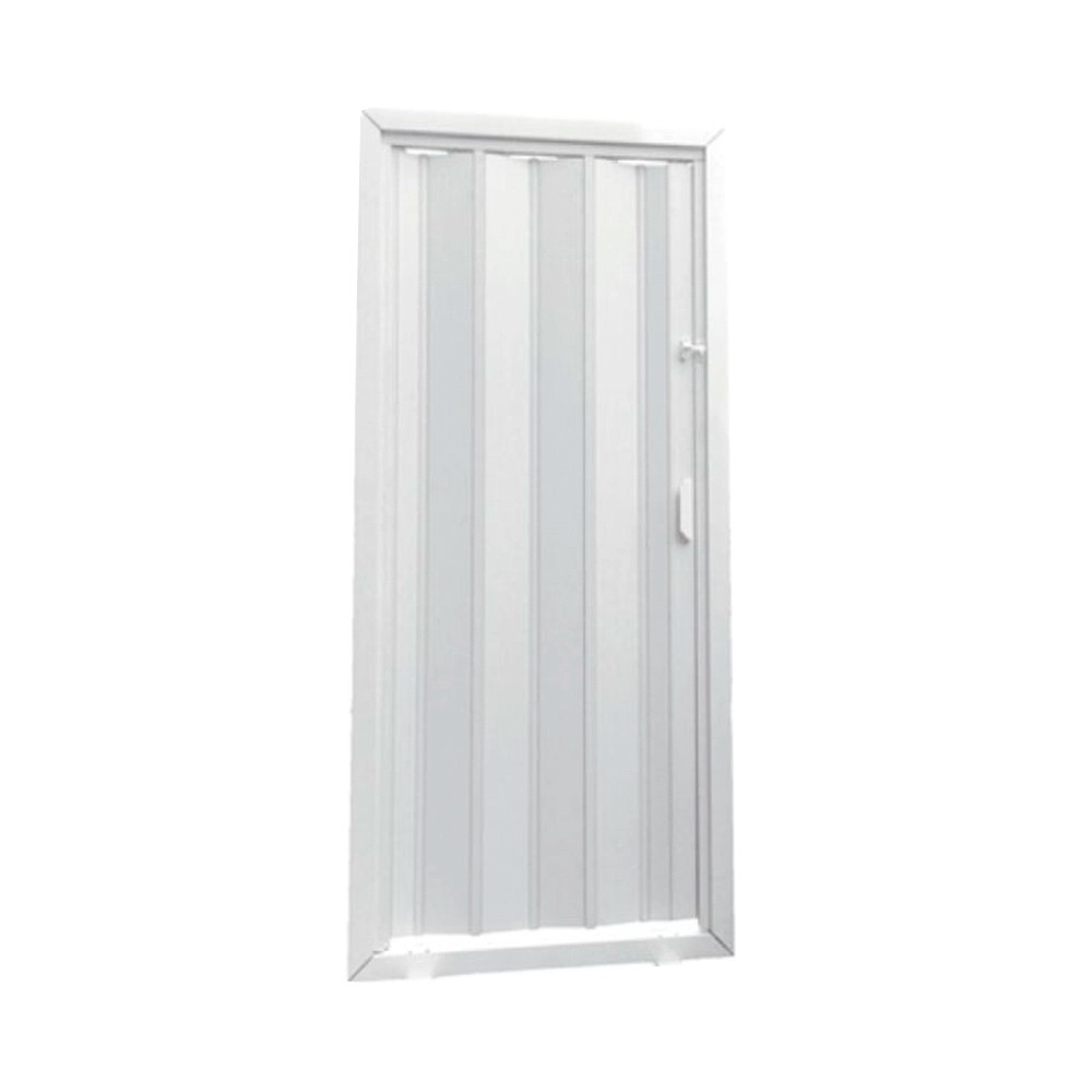 Porta Sanfonada Prática Branca 0,90X2,10M Araforros
