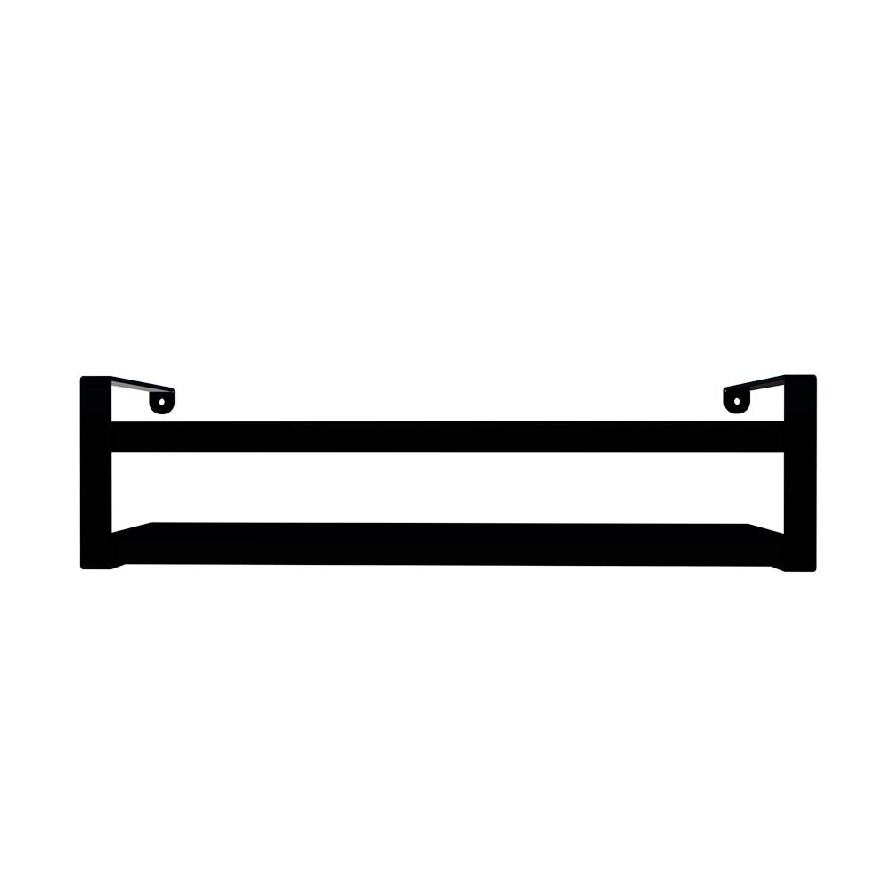 Prateleira Box Estilo 45cm Preta com Preta Dicarlo