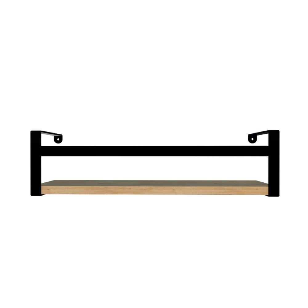 Prateleira Box Estilo 45cm Preto e Amadeirada Dicarlo