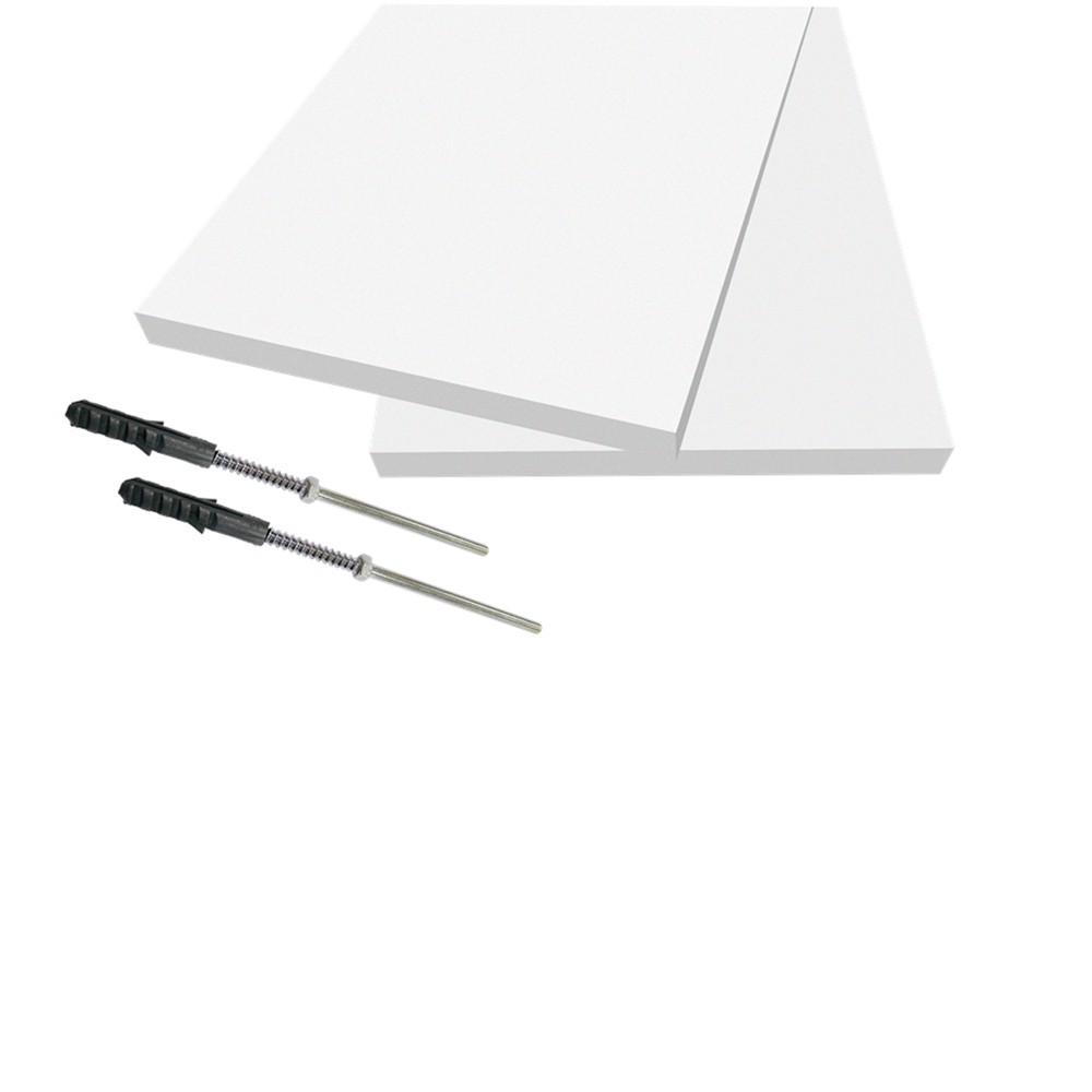 Prateleira Firenze 60x20cm Branco com Suporte Individual Dicarlo