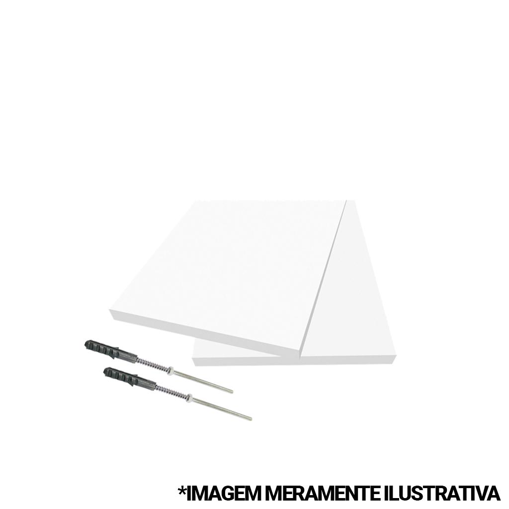 Prateleira Firenze 80x20cm Branca com Suporte Invisível Dicarlo