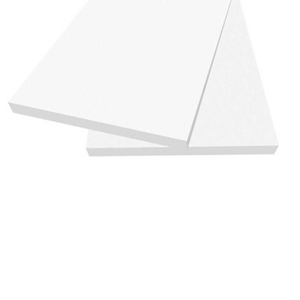 Prateleira Roma 60x25cm Branco sem Suporte Dicarlo