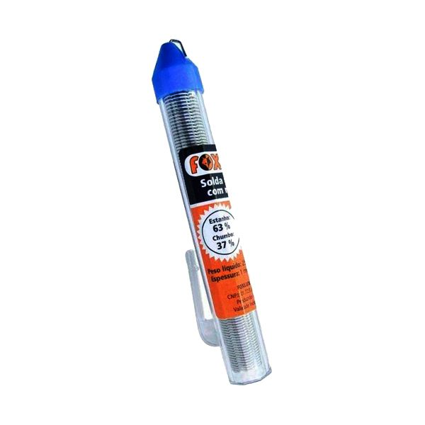 Solda Fio Tubete 1.0mm 4mts 2511 Foxlux