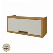 Armário Geladeira 1 Porta Bascula Nesher Imperatriz 80cm 100% MDF