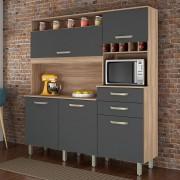 Cozinha 5 Portas 2 Gavetas Nesher Smart