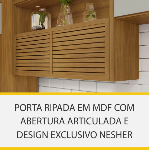 Armário 2 Portas Nicho Nesher Princesa 200cm 100% MDF