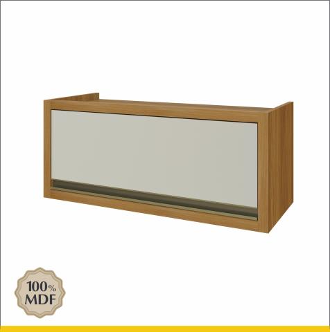 Armário Geladeira 1 Porta Bascula Nesher Baronesa 80cm 100% MDF