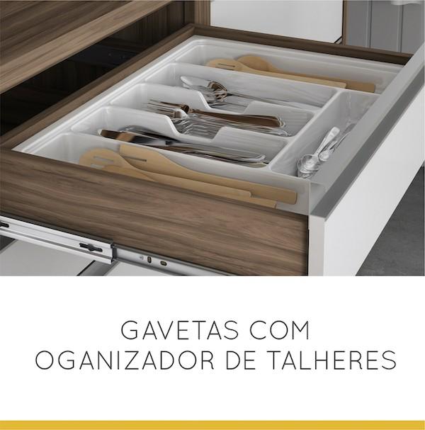Balcão 01 Portas 04 Gavetas Baronesa 120 cm
