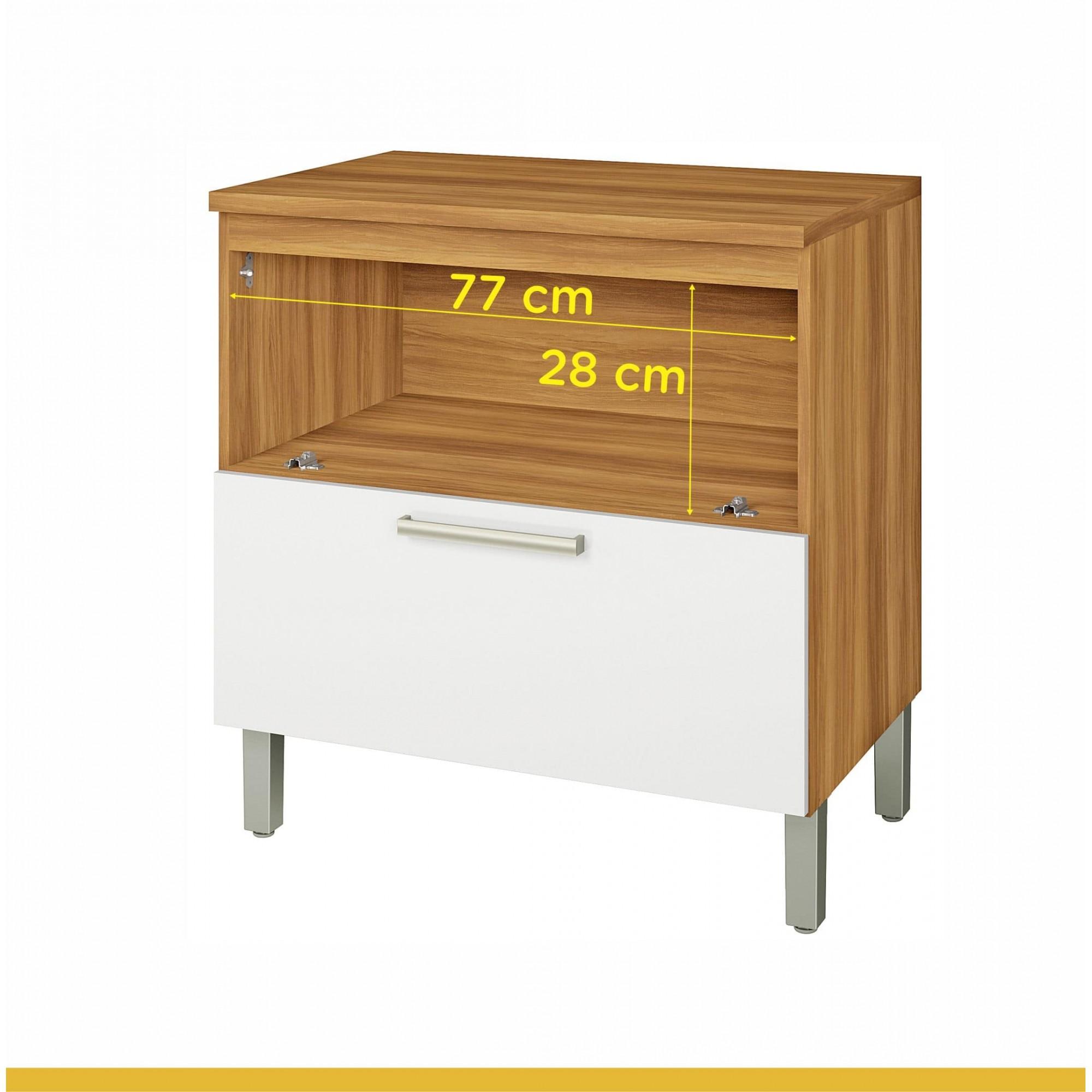 Balcão Cooktop 1 Porta 1 Gav Burguesa 80 MDF