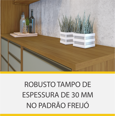 Cozinha 2 Peças Nesher Baronesa 100% MDF