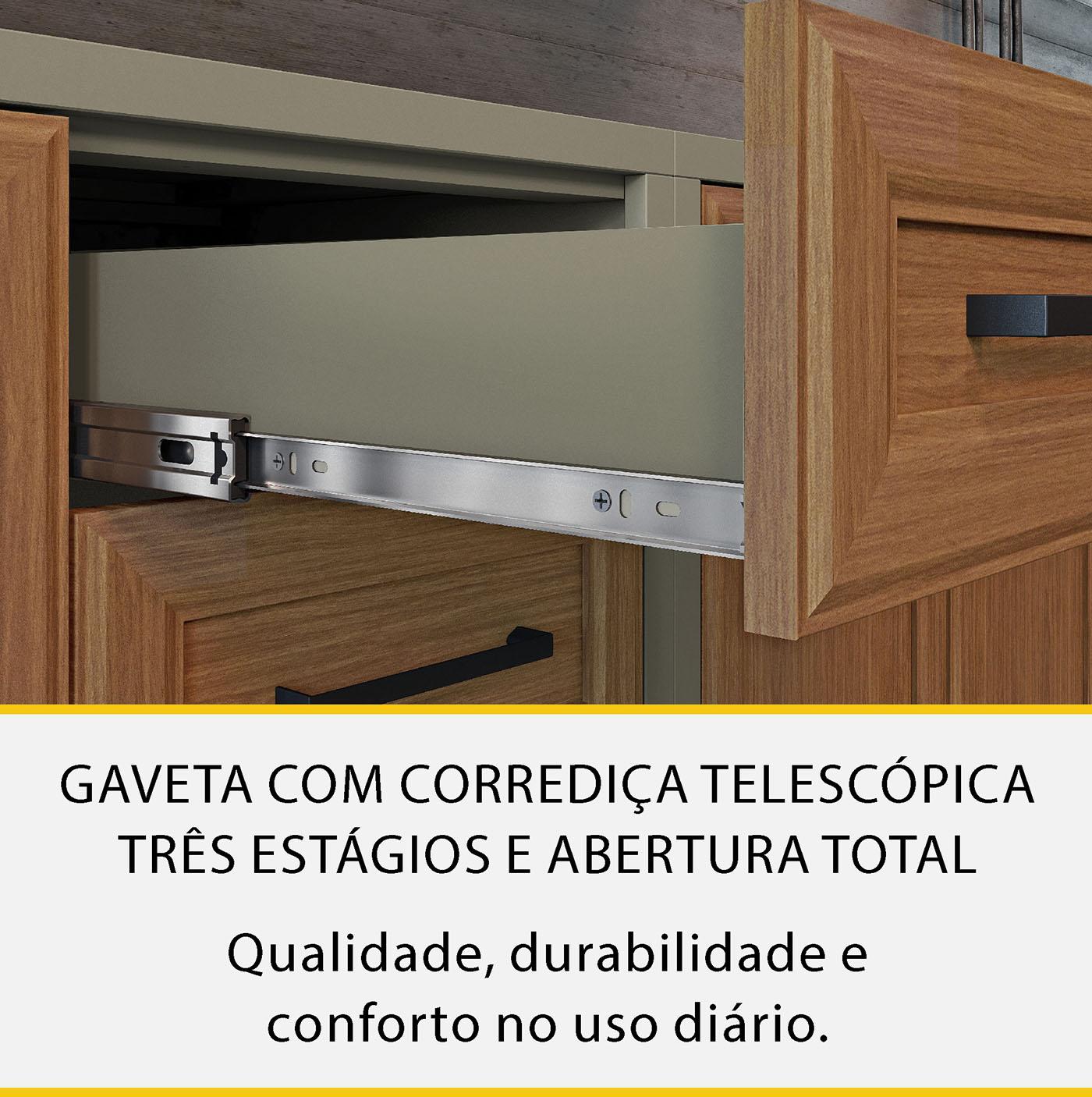 Cozinha 2 Peças Nesher Camponesa Ratan