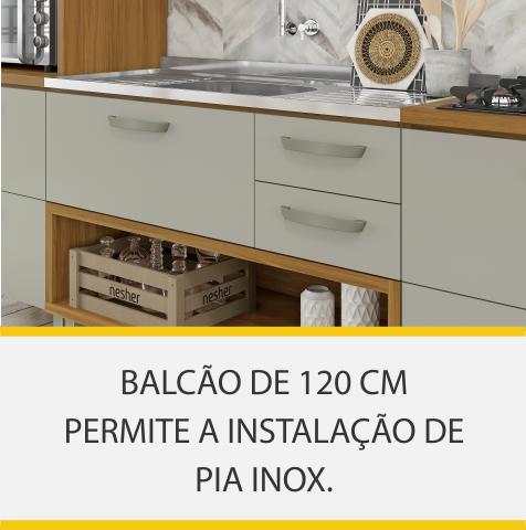 Cozinha 3 Peças Nesher Princesa 100% MDF