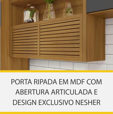 Cozinha 3 Peças Paneleiro Nesher Princesa 100% MDF