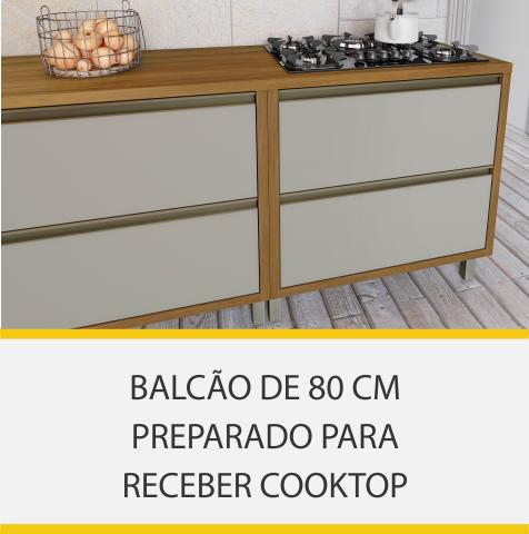 Cozinha 5 Peças Nesher Baronesa 100% MDF