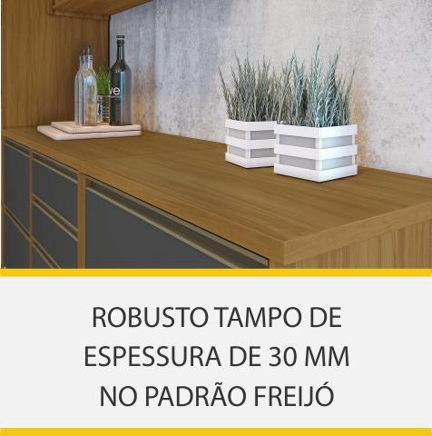 Cozinha 5 Peças Nesher Baronesa Geladeira 100% MDF