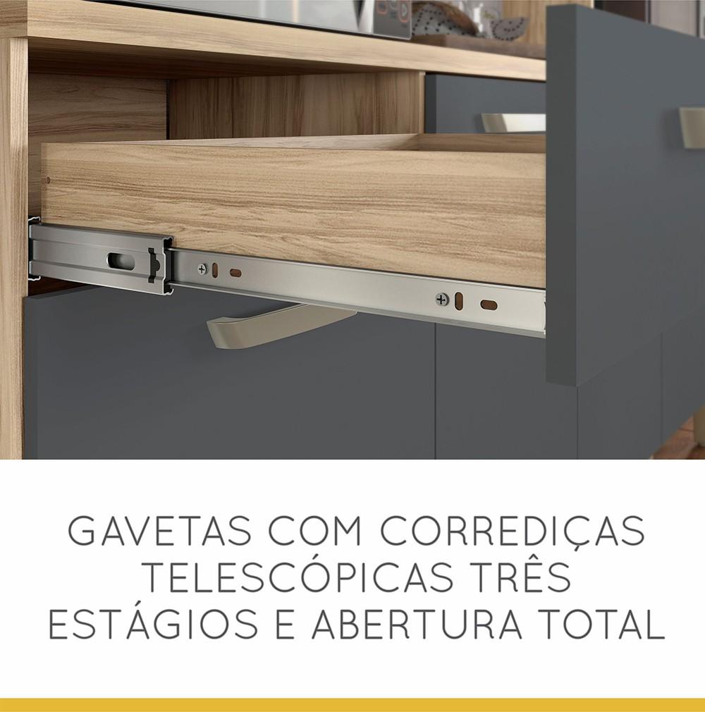 Cozinha 7 Portas 2 Gavetas Master