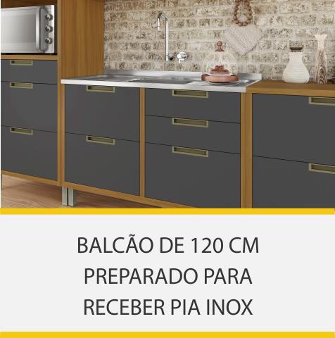 Cozinha 9 Peças Nesher Imperatriz Ângulo 100% MDF