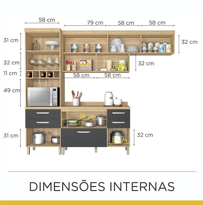 Cozinha Completa 3 Peças Condessa