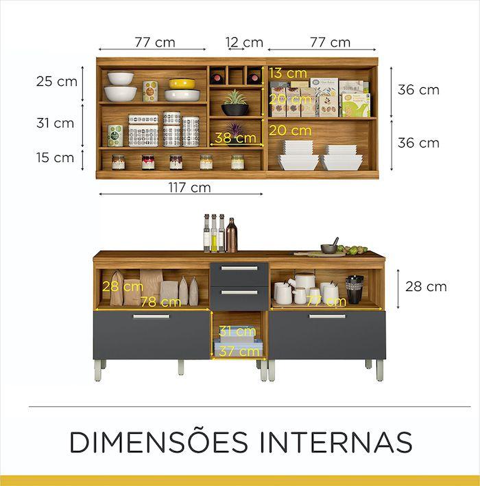 Cozinha 4 Peças Burguesa MDF