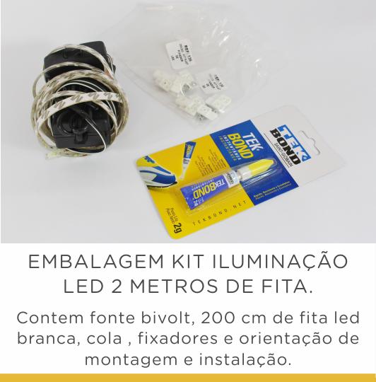 Kit Iluminação Led 2 mts fonte bivolt
