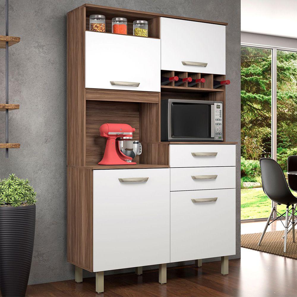 Cozinha 4 Portas 2 Gavetas Nesher Jr