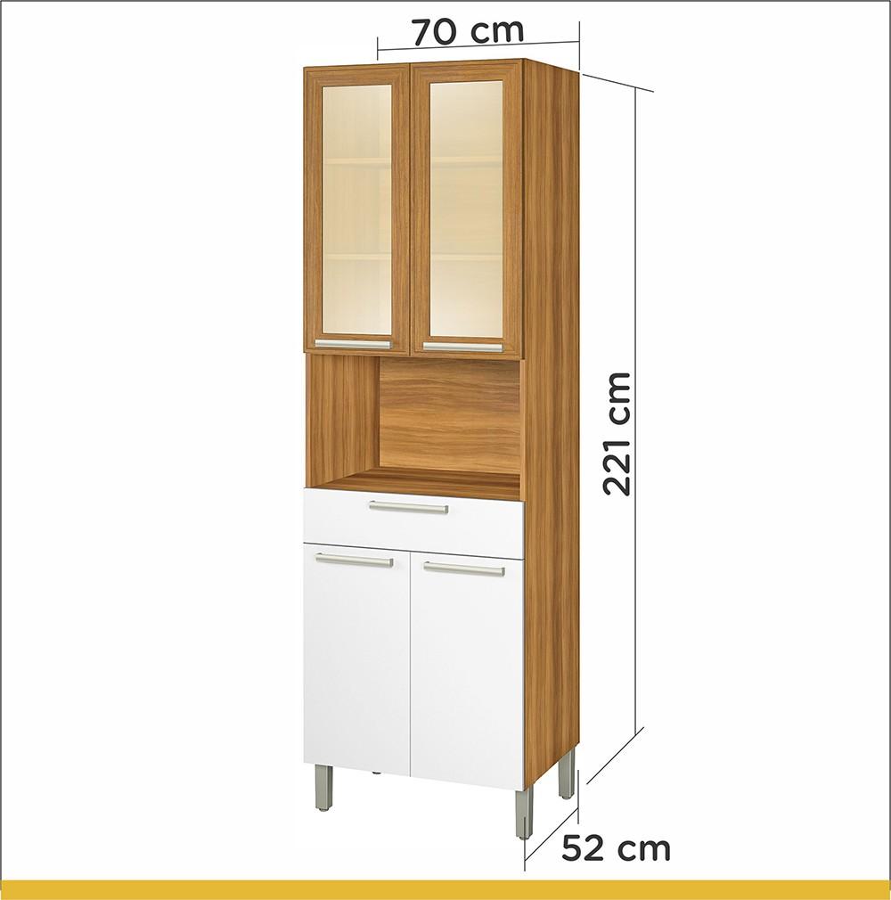 Paneleiro 4 Portas 1 Gav Burguesa 70cm MDF