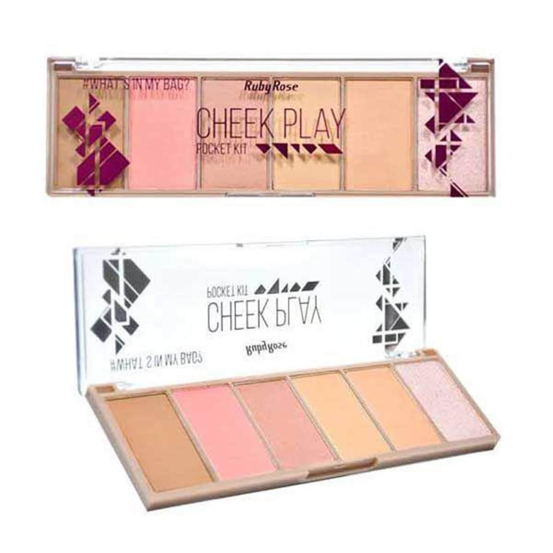 Paleta Pocket Kit Cheek Play - Ruby Rose