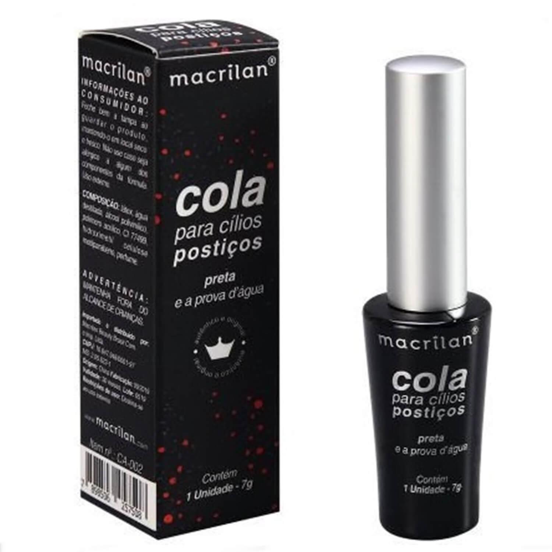 Cola para Cílios Postiços Preta - Macrilan