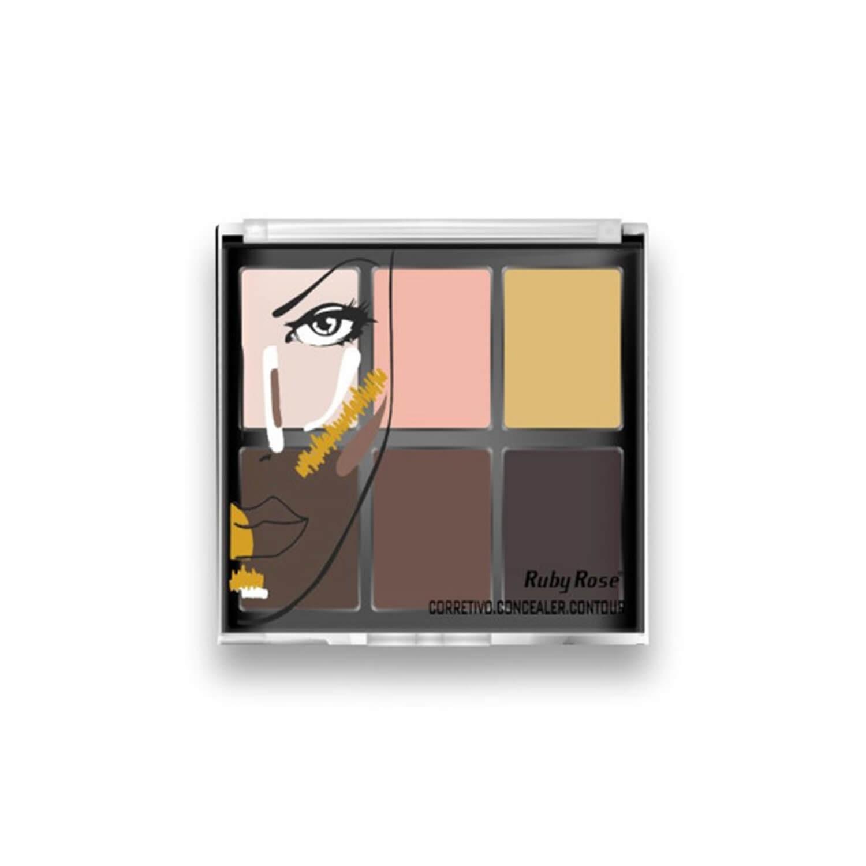 Paleta de Corretivo Concealer Contour - Ruby Rose