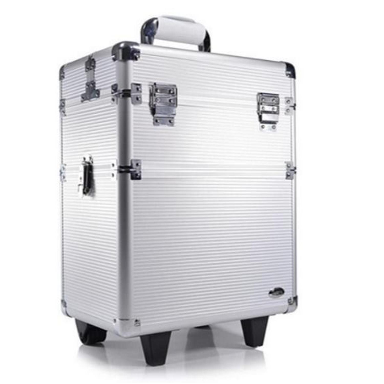 Maleta Profissional Para Maquiagens E Acessórios Com Carrinho - Ruby´s - Prata - FS - 1200A